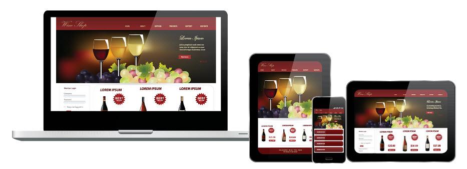 Wine websites design and development