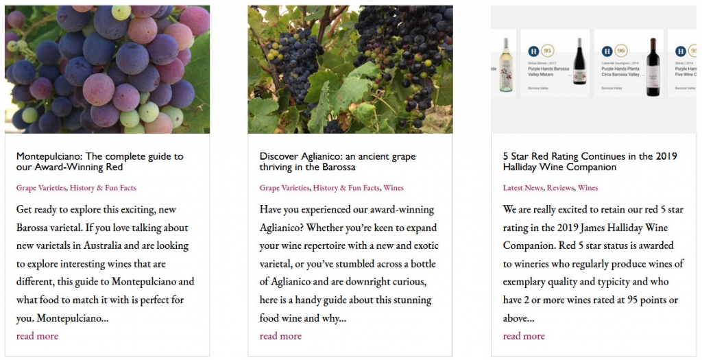 Blogs from Purple Hands Wines Barossa