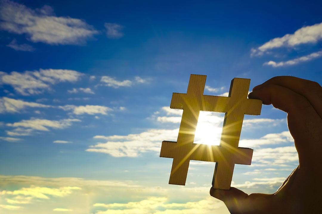 Hashtags in event marketing
