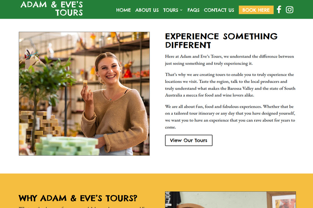 Home page of Adam and Eve's Touris